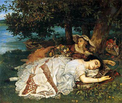 1857 Ragazze sulla riva della Senna Gustave Courbet