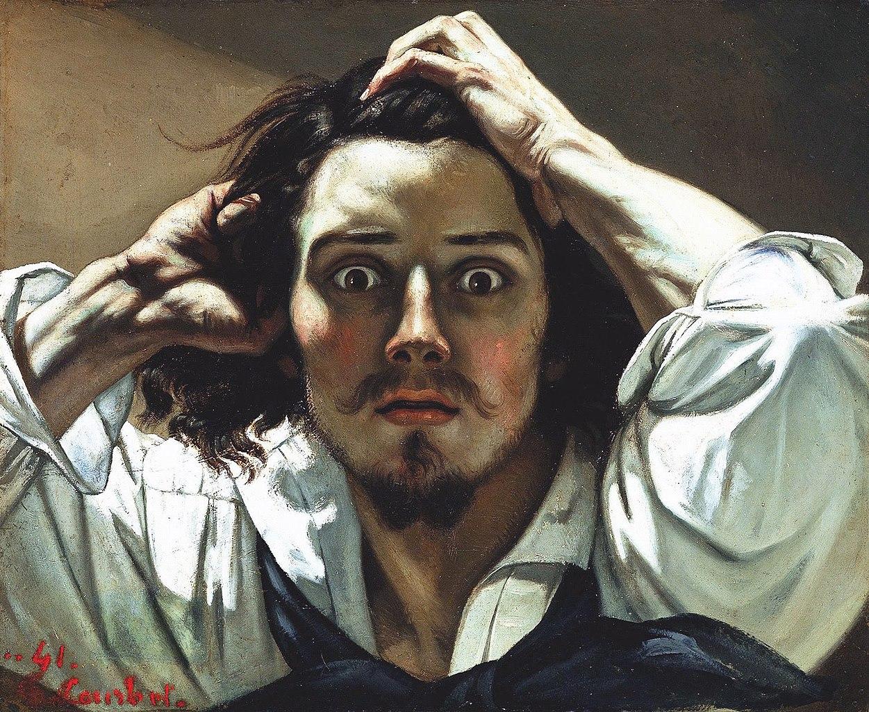 Auto ritratto Gustave Courbet - Le Désespéré è un autoritratto a olio su tela del 1843-1845 di Gustave Courbet.